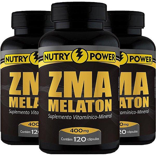 Kit 3 Repositor muscular ZMA Nutry Power 120 cápsulas