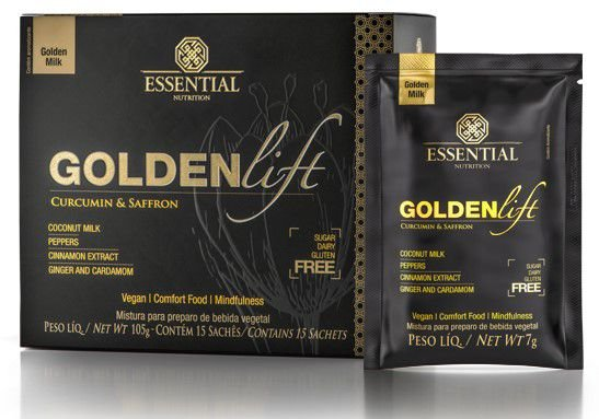 Golden Lift Milk Super Food Essential Nutrition 15 sachês