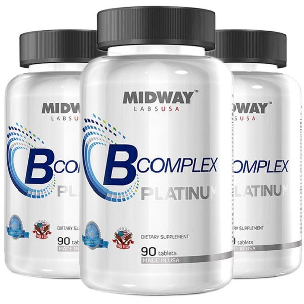 Kit 3 Complexo B Midway 90 Tablets