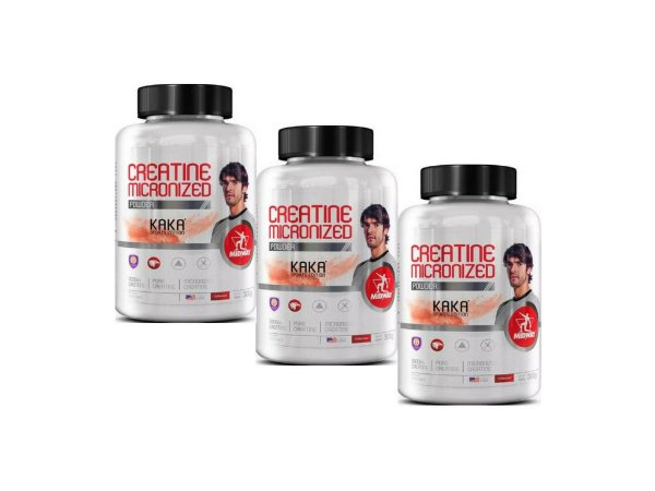 KIT 3 CREATINA MICRONIZADA MIDWAY KAKÁ EDITION 300G