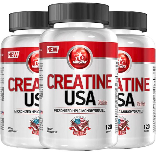 Kit 3 Creatina USA Midway 120 Tabs