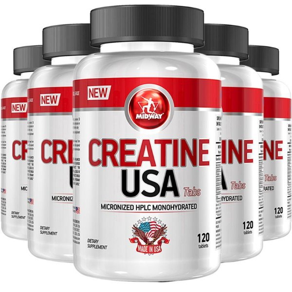 Kit 5 Creatina USA Midway 120 Tabs