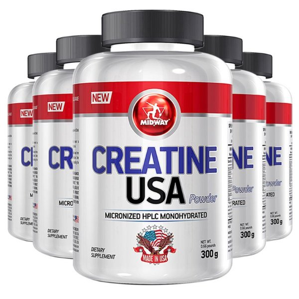 Kit 5 Creatina USA Midway 300g