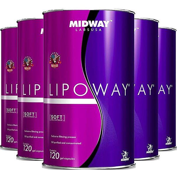 Kit 5 Lipoway Reduce Midway 120 cápsulas