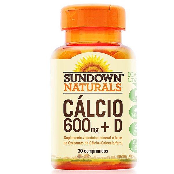 Cálcio 600mg + D Sundown 30 comprimidos