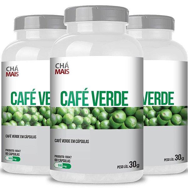 Kit 3 Café Verde com Vitamina C Chá mais 60 cápsulas