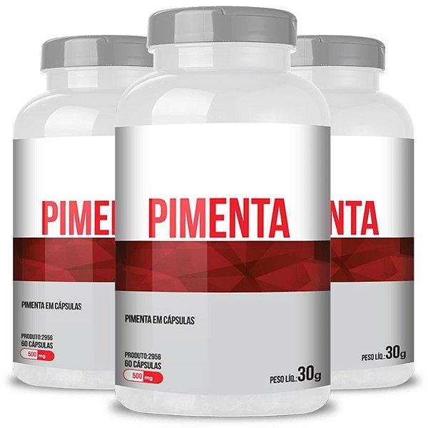 Kit 3 Pimenta 500mg Chá mais 60 cápsulas