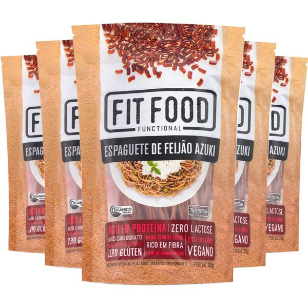 Kit 5 Espaguete de feijão Azuki Fit Food 200g