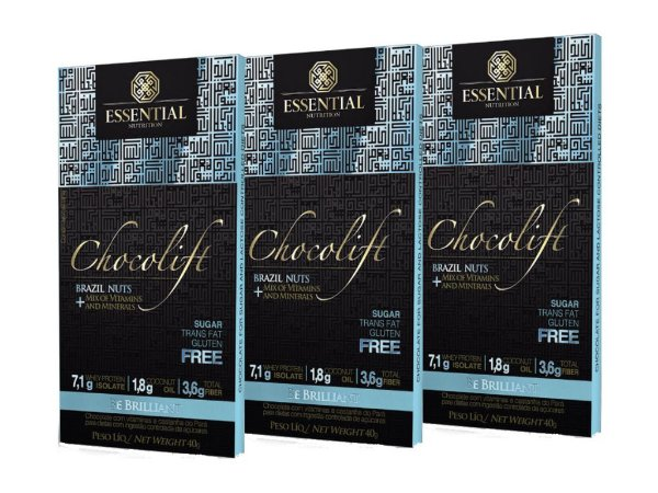 KIT 3 CHOCOLIFT BE BRILLIANT BRAZIL NUTS ESSENTIAL NUTRITION
