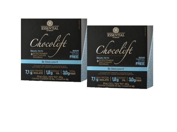 KIT 2 CHOCOLIFT BRAZIL NUTS ESSENTIAL NUTRITION BOX 12 UNIDADES
