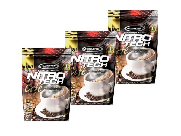 KIT 3 NITRO TECH CAFÉ PROTÉICO MUSCLETECH 491G