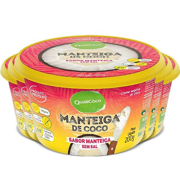 Kit 5 Manteiga de coco Qualicôco 200g