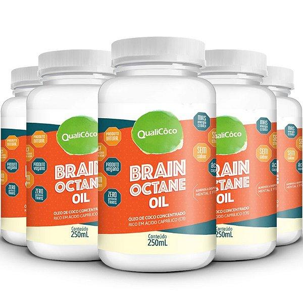 Kit 5 Brain Octane Oil MCT Qualicôco 250ml