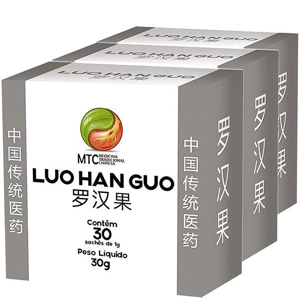 Kit 3 Monk Fruit MCT Luo Han Guo Vitafor 30 sachês