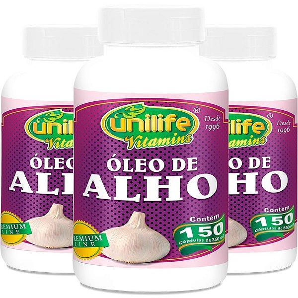 Kit 3 Óleo de alho 350mg Unilife 150 cápsulas