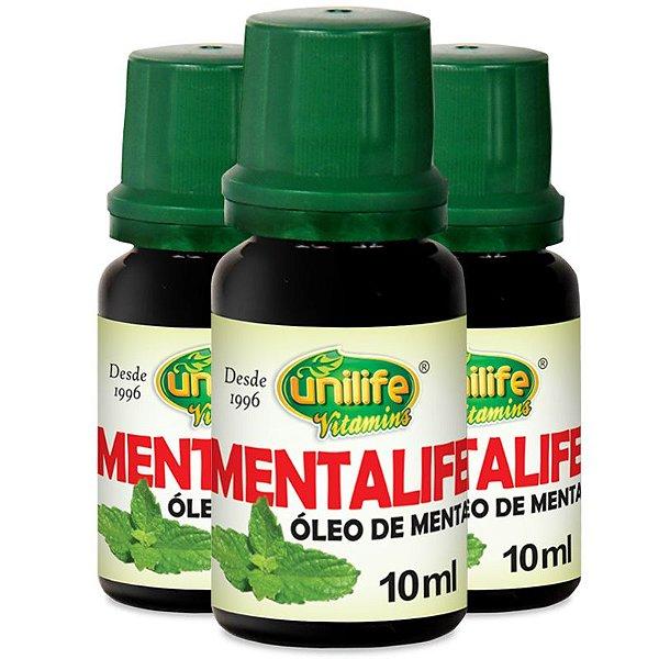 Kit 3 Óleo de menta Unilife Mentalife 10ml