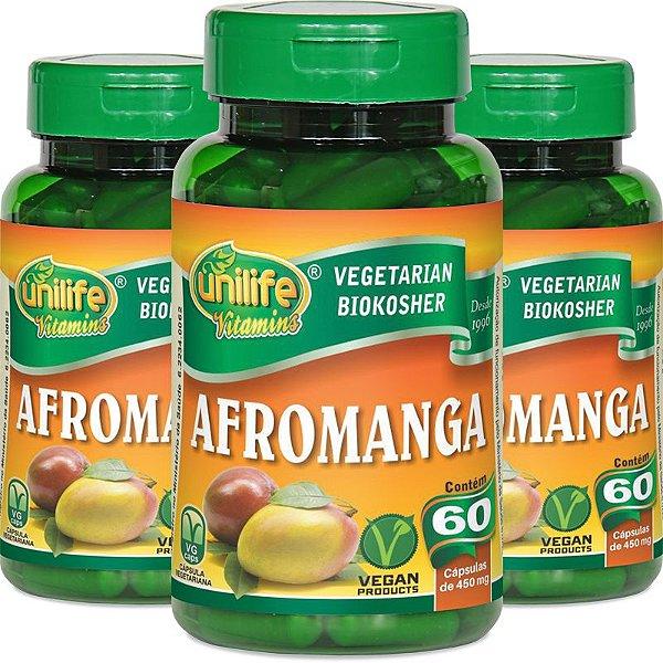 Kit 3 Afromanga manga africana Unilife 60 cápsulas