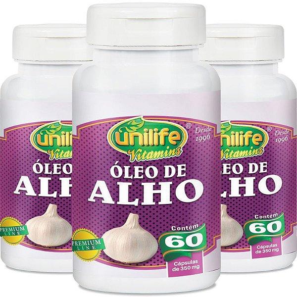 Kit 3 Óleo de alho 350mg Unilife 60 cápsulas