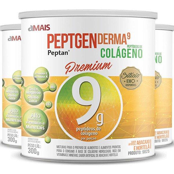 Kit 3 Colágeno premium Chá Mais abacaxi com hortelã 300g