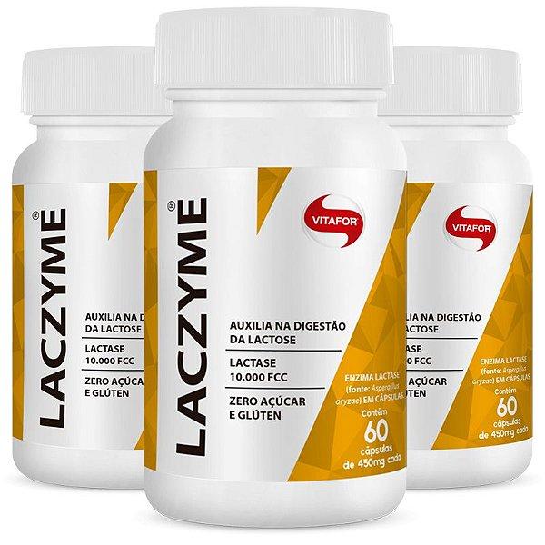 Kit 3 Laczyme 450mg Vitafor 60 cápsulas