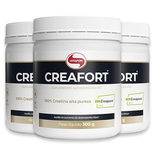 Kit 3 Creatina Creafort Vitafor pote 300g