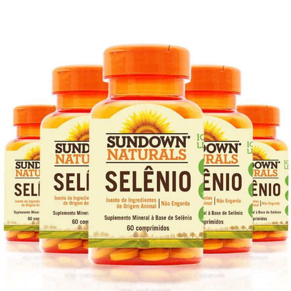 Kit 5 Selênio 34mcg Sundown 60 Cápsulas