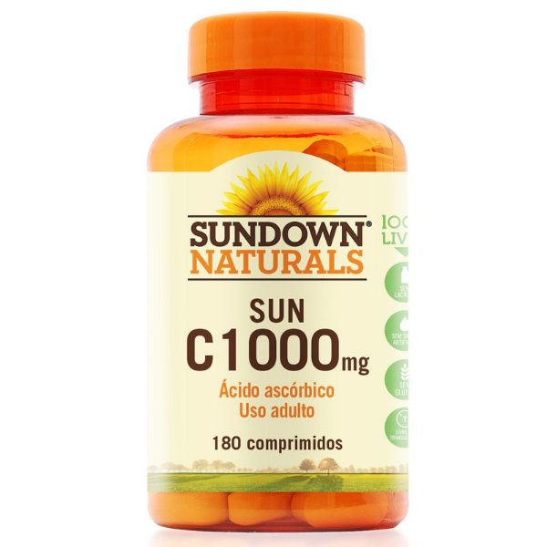 Vitamina C 1000mg Sundown 180 Tablets