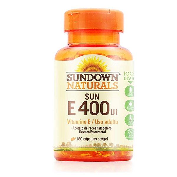 Vitamina E 400 UI Sundown 180 Cápsulas
