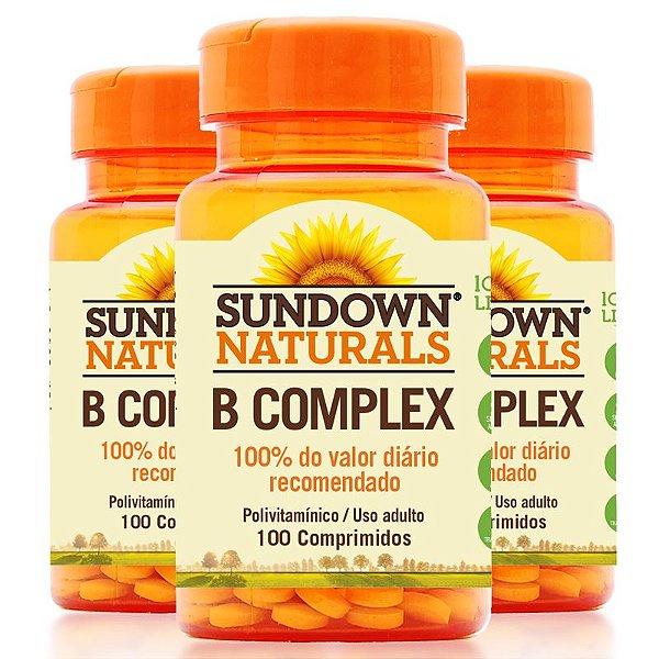 Kit 3 Complexo B Sundown 100 Comprimidos