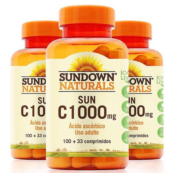 Kit 3 Vitamina C 1000mg Sundown 100 Tablets