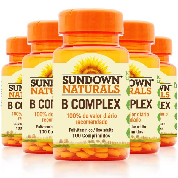 Kit 5 Complexo B Sundown 100 Comprimidos