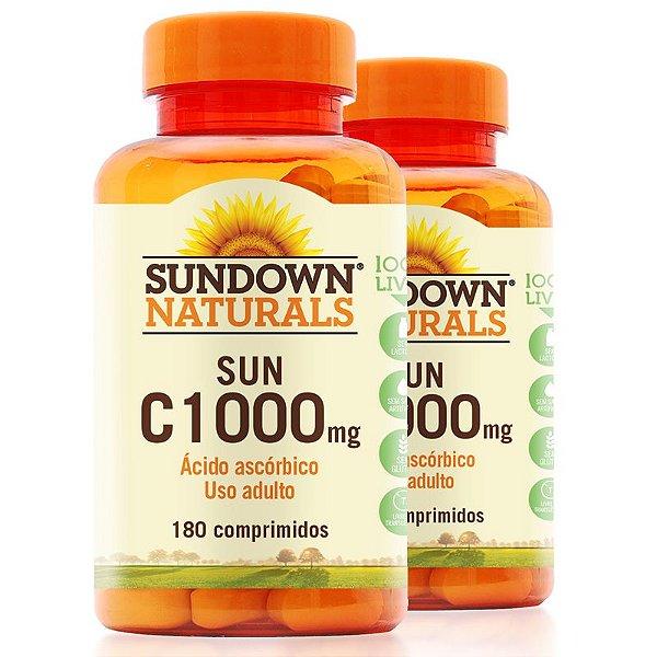 Kit 2 Vitaminas C 1000mg Sundown 180 Tablets