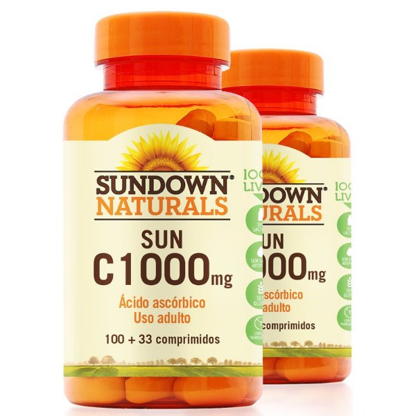 Kit 2 Vitamina C 1000mg Sundown 100 Tablets