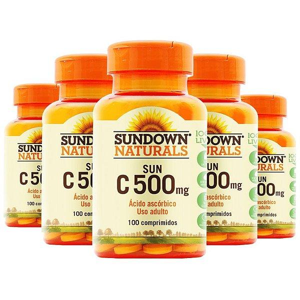 Kit 5 Vitamina C 500mg Sundown 100 Tablets