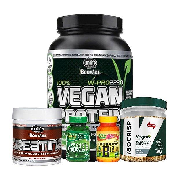 Kit Vegan aux. Ganho de massa Unilife - Vitafor