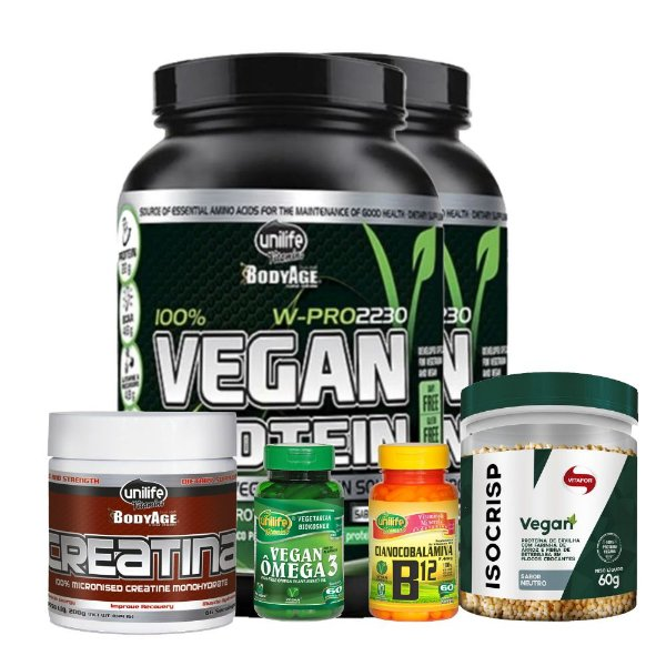 Kit auxilio ganho de massa vegano Unilife
