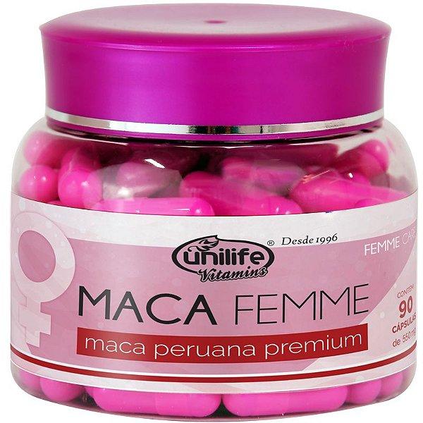 Maca Femme 560mg Maca Premium Unilife 90 Cápsulas