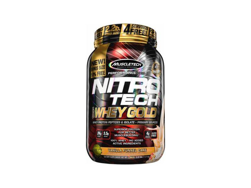 Nitro Tech Whey Gold Vanilla Funnel Cake Muscletech 1,01kg