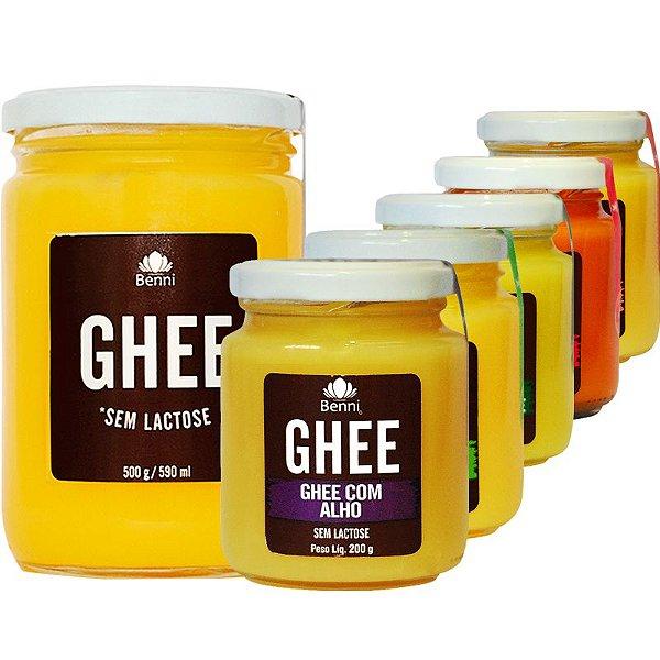 Kit 6 Manteiga Ghee Diversos Benni 200g e 500g