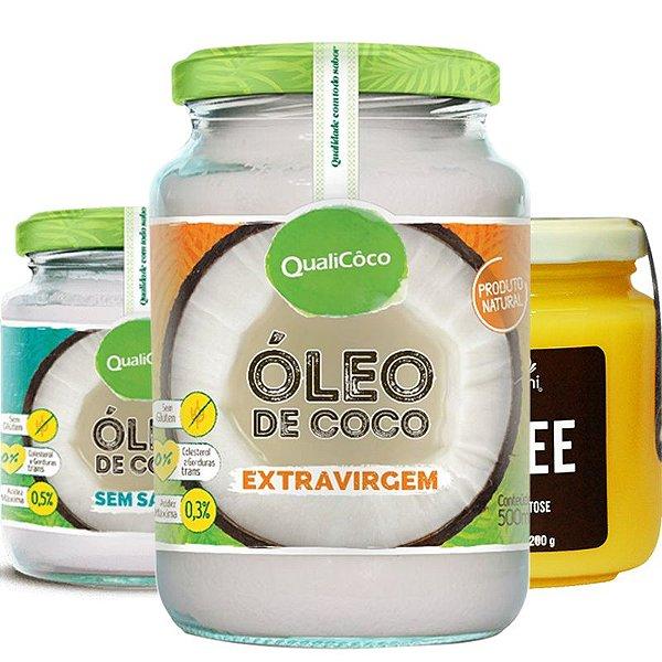 Kit 2 Óleo de Coco + Manteiga Ghee Qualicôco e Benni