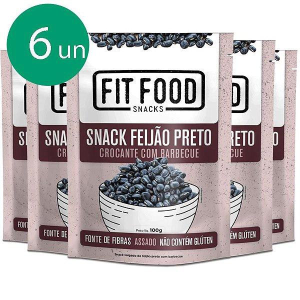 Kit 6 Snack Feijão Preto Barbecue Fit Food 100g