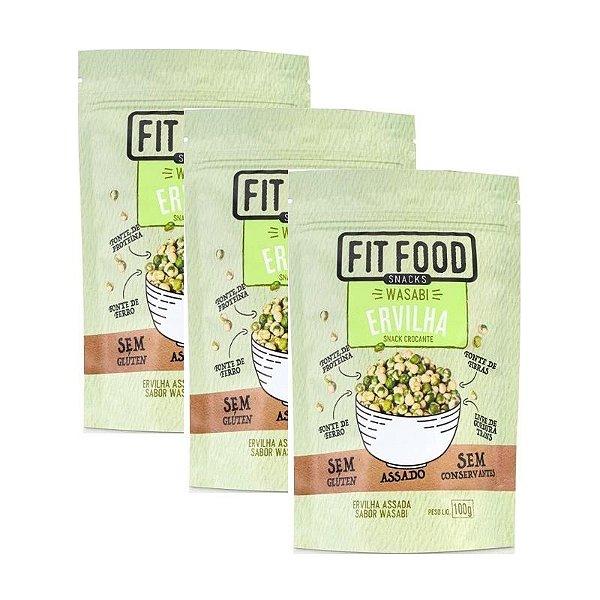 Kit 3 Snack Ervilha Wasabi Fit Food 100g