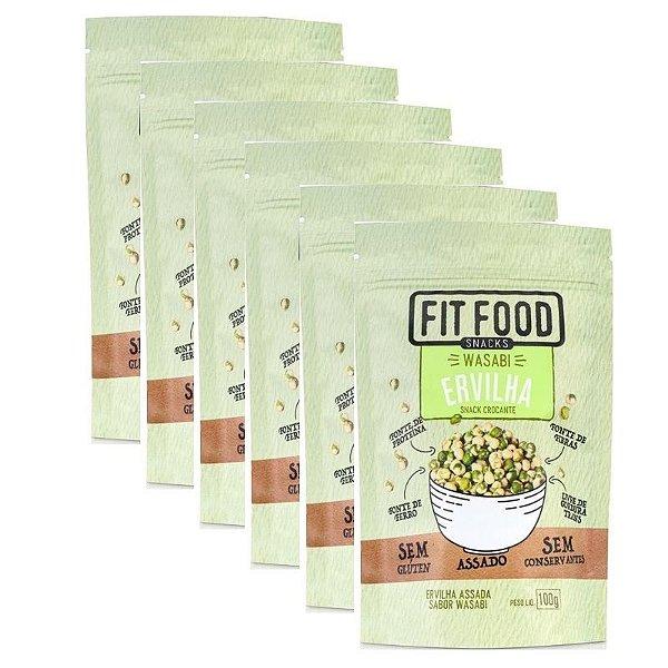 Kit 6 Snack Ervilha Wasabi Fit Food 100g