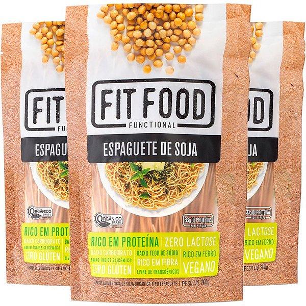 Kit 3 Espaguete de Soja Fit Food 200g