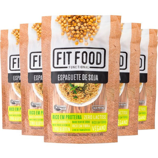 Kit 5 Espaguete de Soja Fit Food 200g