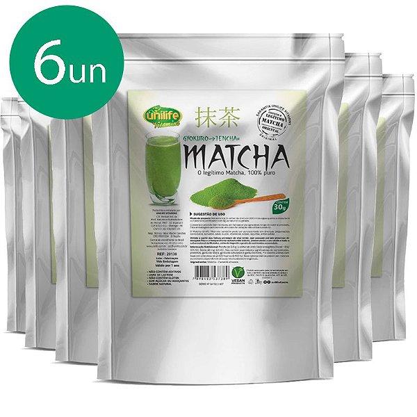 Kit 6 Matcha Puro Sóluvel Unilife 30g