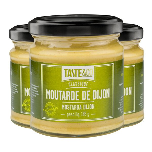 Kit 3 Mostarda Dijon Taste&Co 185g