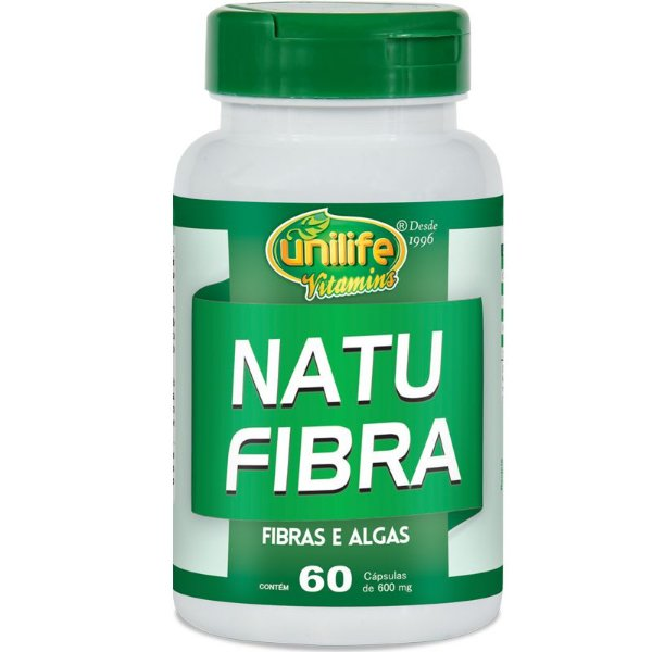 Natu Fibra Emagrecedor 600mg Unilife 60 Cápsulas