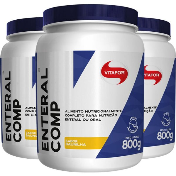 Kit 3 Enteral Completo Vitafor 800g