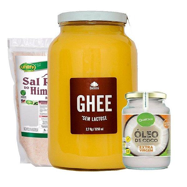 Kit Manteiga Ghe Gigante, Óleo de Coco e Sal Rosa